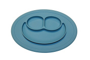 Silicone Kids Placemat with spoon, Table Suction, Fits Most Highchair Trays, Dishwasher, Microwave Safe, FDA Approved BPA Free