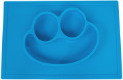 SmilingFace One-Piece Kids Silicone Placemat and Plate