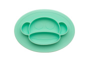 Children's Placemats– Soft, Flexible Silicone Food Tray – Dinner Mats for Babies and Toddlers – Dishwasher Safe – Round