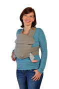 Marsupi Compact and Soft, Front and Side Baby Carrier - Slate Grey