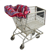 Wupzey Shopping Cart and Diner Seat Cover, Red Stripe