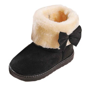 Ikevan Fashion Baby Girl Cotton Warm Snow Boots Thickened and Cashmere Bottine Winter 1-3 years old