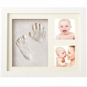 Hantajanss Baby Hand Print Frame Keepsake Preserves Priceless Memories Best Gift for Baby Registry