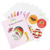 Ronica Baby Stickers for Girls - Set of 32 - Celebrate Holidays, Milestones, and More