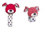 Lookie-Loos Animal Squeaker and Wrist Rattle Set (2 Pcs)
