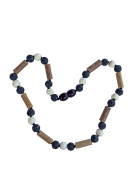 Howlite, Lava and Hazelwood Necklace by Umai - Colic, Acid Reflux and Teething. Individually knotted. For babies and toddlers
