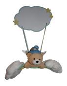 Newborn Nursery Angel Bear Hanging Wall Plaque Room Decor