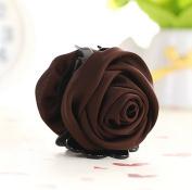 Cfalaicos Korean Beauty Ribbon Rose Flower Bow Jaw Clip Hair Claws for Women Headwear Hair Accessories