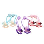 6Pcs Girls Boutique Colourful Horse Hair Ponytail Holders Set Girl's Hair Rope Ponytail Kids Holder Elastic (Style 1