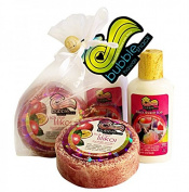 Hawaiian Bubble Shack Loofah Soap & Body Lotion Duo Gift Set Lilikoi Shave Ice