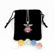 Feel Fragrance Aromatherapy Essential oil Diffuser Necklace locket Aroma Pendant Jewellery(Plant angel)