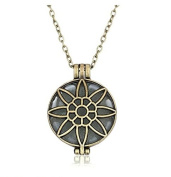 Feel Fragrance Aromatherapy Essential oil Diffuser Necklace locket Aroma Pendant Jewellery(Octagon Antique Bronze )
