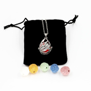Feel Fragrance Aromatherapy Essential oil Diffuser Necklace locket Aroma Pendant Jewellery(Swan)