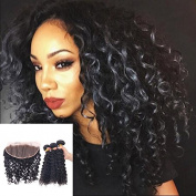 Top Quality 13x 4 Lace Frontal Ear to Ear Curly with 3Bundles Brailian Human Virgin Hair