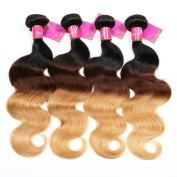 SHACOS Brazilian Hair Body Wave Ombre 1b 4 27 Ombre 1b 27 Human Hair Bundles Grade 7A Brazilian Virgin Human Hair Weft Extensions
