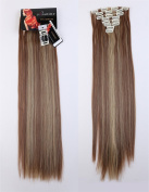 LAY 24-70cm 18Clips Full Head Set Clip in Hair Extensions Highlight Cosplay Party Wedding Hairpiece