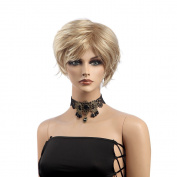 Fashion Women Wig Fluffy Short Golden Hair 8005
