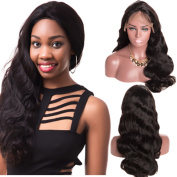 Superwigy Brazilian Human Hair Wigs Water Wave Nature Black Lace Front and Full Lace Remy Hair Wigs for Choose