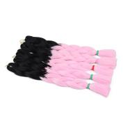 AISI HAIR Synthetic Braiding Hair Omber Jumbo Braid Hair Extension High Temperature Fibre