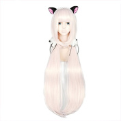 Anogol Hair Cap+Women's Cosplay Wig Blonde Long Straight Hair Halleween Wigs Costume