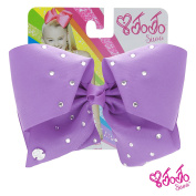 JoJo Siwa Signature Collection Hair Bow with Rhinestones - Lavender With Sticker Patch Set Included