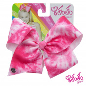 JoJo Siwa Signature Collection Tie Dye Hair Bow Neon Pink