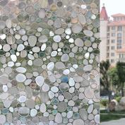 Bloss Vinyl Nice Sticker Cobblestone 3D Static Cling Privacy Decal Glass