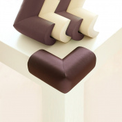BABY MATE 12 PCS Home Safety NBR Foam Furniture Corner Cushion Protector (Brown, 6.9cm L X 3.3cm W, 1cm Thick) - Thick, Soft & Childproof Corner Guards - High-density Table Corner Protector for Baby