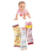 Luckystaryuan Set of 3 Lovely Cotton Baby Leg Sock Kneepads