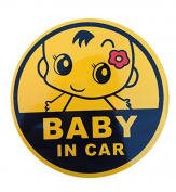 Baby in Car Baby on Board Graphic Safety Sticker Use Reflecting Material