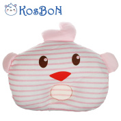 KSB 28cm Infant Baby Pillow,Soft Anti Roll Baby Head Positioner Pillow,100% Cotton Prevent Flat Head For 3 Months- 1 Year Infant