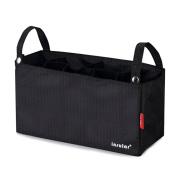 Violet Mist Universal Stroller Organiser Nappy Insulated Storage Bag, Black