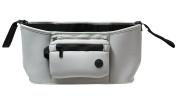 JustNile Neoprene Waterproof Universal Fit Baby Stroller Pram Carriage Hanging Organiser Large Travel Bag With Detachable Purse - Grey Colour