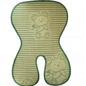 "Fairy Baby Folding Summer Child Safety Seat Mat Natural Bamboo Buggy Pad Green,Size 18cm Wx 15""L"
