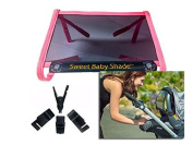 Sweet Baby Shade (pink) protects your baby from the sun; best baby sunshade for strollers & car seats-reduces newborn sun exposure to skin and eyes, blocks 98% of UV rays