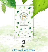 bom Super Power Baby Ultra Cool Leaf 2 Steps Sheet Mask Pack