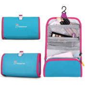 Mardingtop Ultralight Roll Toiletry Bag Wash Bag Cosmetic Bag Make up Organiser with Hook for Men Women