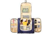 St London Navy Blue Large Waterproof Hanging Portable Wash Bag/Travel Bag/Wash Bag/Cosmetic Bag/Toiletry Bag/Makeup Kit for Men and Women