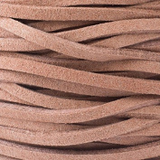 Mocha Brown/Tan Microsuede 1.5mm Thick, 2mm Wide Flat Cord - 25 yard spool