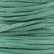 Pine Green Microsuede 1.5mm Thick, 2mm Wide Flat Cord - 25 yard spool