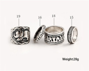 4PCS/Set Vintage Filigree Elephant Joint Knuckle Band Rings Turkish Carved Stacking Nail Midi Knuckle Ring Set