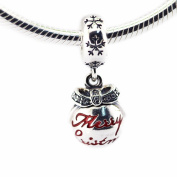 FASHICON European Christmas Gift Bauble Dangle Charm Beads 925 Sterling Silver DIY Making Fits for Original Bracelet DIY Jewellery