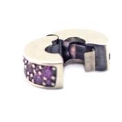 FASHICON Purple Shining Elegance Clip,Fancy CZ 925 Sterling Silver Fits for Original Bracelets DIY Charm Jewellery