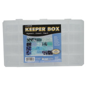 Keeper Box Bead, Craft Supplies, Findings, or Tool Organiser Large 13 X 7.5 - 20 Compartments - KPR3