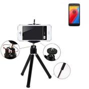 Smartphone Tripod / mobile stand / tripod for Lenovo Moto C LTE, aluminium mobile phone holder - K-S-Trade