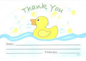 Bubble Ducky Baby Shower Thank You Cards, Fill-In Style, 8 Pack