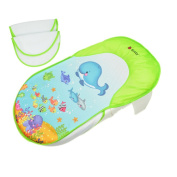 Collapsible Baby Bath Bed Tub Chair Towels Safe Comfortable