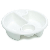 The Neat Nursery Co Circular Top'n'Tail Wash Bowl. White