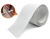 Marsway Safety Non-Slip Tape 4.9m Length x 10cm Width Removable Clear Adhesive Sticker for Stairs, Ramps, Treads and Other Surfaces