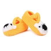 Dealzip Inc Sweet Unisex Newborn Baby Boy Girl Crochet Knitted Crib Soft Handmade Shoes Infant Pre Walker Toddler Sock-Yellow Bear